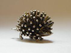 Sterling Silver Hedgehog Charm 1960s