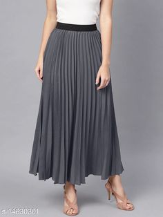Skirts Elegant Unique Women Western Skirts Fabric: Crepe Pattern: Solid Multipack: 1 Sizes:  34 (Waist Size: 34 in, Length Size: 39 in)  36 (Waist Size: 36 in, Length Size: 39 in)  26 (Waist Size: 26 in, Length Size: 39 in)  28 (Waist Size: 28 in, Length Size: 39 in)  30 (Waist Size: 30 in, Length Size: 39 in)  32 (Waist Size: 32 in, Length Size: 39 in)  Country of Origin: India Sizes Available: 26, 28, 30, 32, 34, 36   Catalog Rating: ★4.1 (429)  Catalog Name: Stylish Fashionista Women Western Skirts CatalogID_2903086 C79-SC1040 Code: 254-14630301-5511