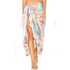Tiare Hawaii Sarong ($65) ❤ liked on Polyvore featuring swimwear, cover-ups, swim, swimming cover ups, sarong cover ups, rayon sarong, swim cover ups and swim sarong