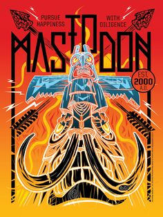 Poster illustration for the metal band Mastodon inspired by the song 'The Sparrow' from their 2012 release The Hunter