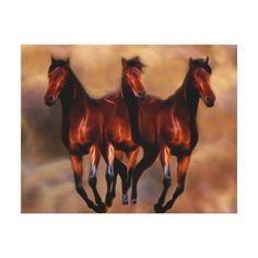 Three horses as one canvas