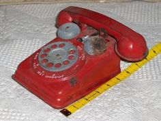 A Junkee Shoppe Junk Market Stop: SHEET METAL Toy Telephone Phone Beat Up Some Used ... For Sale Click Link Here To View >>>> http://ajunkeeshoppe.blogspot.com/2015/12/sheet-metal-toy-telephone-phone-beat-up.html
