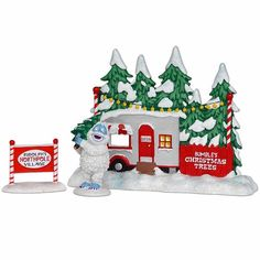 Dept 56 Rudolph Meeting Santa Set of 4