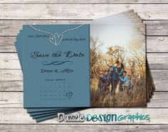 Blended Family: Save the Date announcement with photo, Wedding, Digital