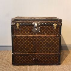 A good, circa 1900 French Louis Vuitton monogram trunk, of great proportions, ideal as a coffee/side table, that will work well in most…
