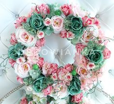 Floral Wreath, Wreaths, Home Decor, Crowns, Floral Crown, Decoration Home, Door Wreaths, Room Decor, Deco Mesh Wreaths