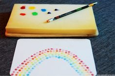 stamps- easy for kids: squeeze paint to the sponge