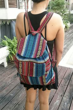 Tribal Backpack Boho Hippie Ethnic Hmong Woven by TribalSpiritShop
