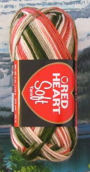 Red Heart Soft Yarn 4 oz skein Garden. $2.92