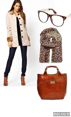 #куртка #пальто #сумка #очки #перчатки #осень #работа #офис #рыжий #принт