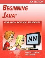 BEGINNING JAVA is a tutorial consisting of 10 chapters explaining (in simple, easy-to-follow terms) how to build a Java application. Students learn about project design, object-oriented programming, console applications, graphics applications and many elements of the Java language. Numerous examples are used to demonstrate every step in the building process. The tutorial also includes several detailed computer projects for students to build and try.
