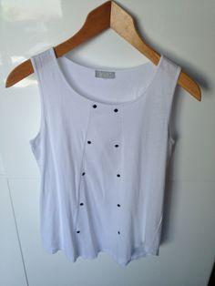 Débardeur blanc BNK dans T-Shirt / vêtements / mode