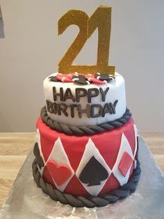 Casino cake for boys 21st birthday