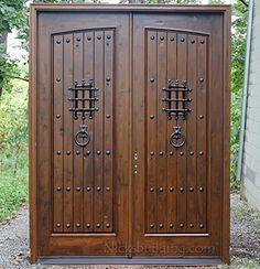 Rustic Doors   Single Exterior Door   Knotty Alder Doors   Entryway ...
