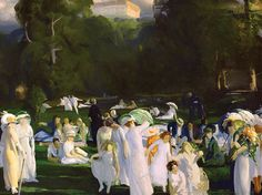 George Bellows (American 1882–1925) [Ashcan School, The Eight, American Realism] A Day in June (1913).
