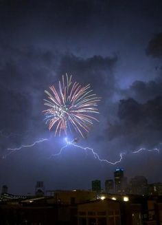 lightning and fireworks...