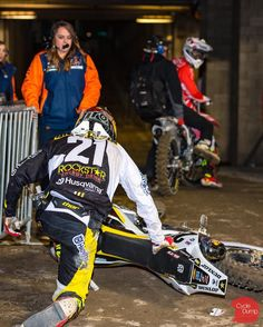 Anderson & Friese exchange words and a bit of paint after heat race 1.  #SupercrossLive #Supercross #MotoMind