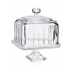 Belmont Footed Square Cake Stand With Dome Dessert Cupcake Stands