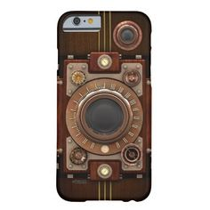 Vintage Steampunk Camera No.1B iPhone 6 Cases, also available in my store for other devices including Samsung Galaxy. The design is made up of a number of separate elements and can be customized.
