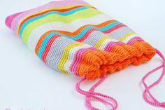 My Crochet Drawstring Project Bag