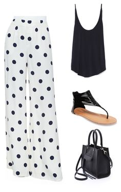 """""""You and Me, Polka-Dottie"""" by kaylahca ❤ liked on Polyvore featuring Ralph Lauren Collection, Zara, Wet Seal and Rebecca Minkoff"""