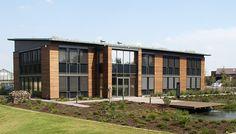 Bürogebäude aus Holz bieten eine tolle Atmosphäre für Mitarbeiter und Kunden!