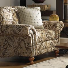 down Upholstered Chairs | 735000 Traditional Upholstered Chair with Rolled Arms and Nailhead ...