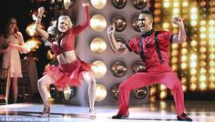 Great performance: Carlos and Witney received relatively high scores from the judges