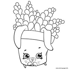 Cute Fern To Color Shopkins Season 5 Coloring Pages Printable And Book Print For Free Find More Online Kids Adults Of