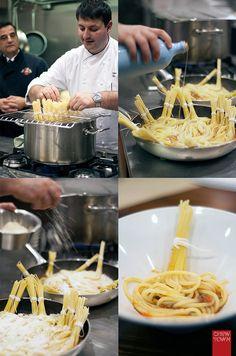 Spaghetti Mazzaetti al Ragu Bolognese (I can't believe that's a single serving of pasta)