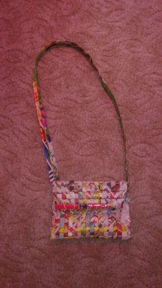 A bag made of newspaper