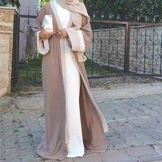 Pinterest: eighthhorcruxx. White and beige abaya