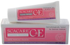 Scacare C Nano White Natural Source Lightening Cream 30g Made From Thailand . $45.00. SCACARE Nano White  100% Natural - Source  Vitamin C, E , Rose Hip Oil, Aloe Vera, Evening Primrose Oil  (30 g)    Dermatologically Tested By German Institute Non- greasy suitable for all skin types may be used as a pre - makeup base   The advanced Nano white formula which contains effective vitamins derivative with natural extract ingredients and Nano White provides skin intensive moisture...