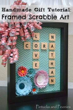 Handmade Scrabble Gift  - Spell Out Your Love!