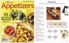 Fine Cooking Magazine - Party Gear, September 2011