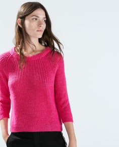 Image 2 of CROPPED SWEATER WITH 3/2 SLEEVES from Zara