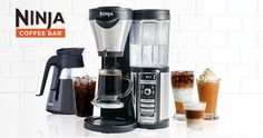 Ninja Coffee Bar - Thermal Flavor Extraction™ technology delivers a variety of sizes/styles while achieving the perfect brew richness.Auto-iQ™ One Touch Intelligence Technology delivers customizable options for smooth, rich coffee in a cup, travel mug or carafe. Makes refreshing iced coffee by allowing users to dial up the richness to offset the dilution from melting ice. $179.99 available at major retailers nationwide.