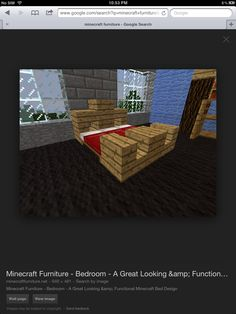 minecraft king size bed
