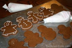 Rolled Gingerbread Cookies icing - The Sisters Cafe