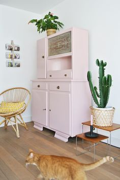 meuble-mado-rose-cactus-fauteuil-rotin-lili-in-wonderland - Lili in wonderland Home Interior, Interior Decorating, Interior Design, Front Room Furnishings, Diy Home Decor, Room Decor, Living Spaces, Living Room, Scandinavian Home