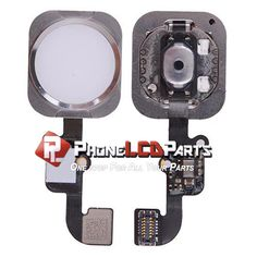 iPhone 6S Home Button Flex Cable With Fingerprint Scanner-WHITE