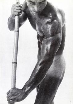 Young Samurai: Bodybuilders of Japan. Samurai, Bar Art, Famous Men, Mans World, Artistic Photography, Vintage Photographs, Photo Manipulation, Cool Photos, Amazing Photos