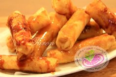 "Turon Recipe. Turon is one of the bestseller, street food snacks here in the Philippines. It's made from ripe banana ""Saba"" with Jackfruit strips wrapped in ""Lumpia"" Spring Rolls wrapper. Deep fried and coated with caramelized brown sugar similar to Banana Que and Camote Que. It is easy to make and so affordable."