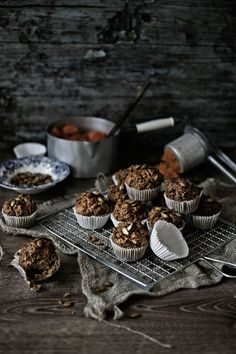 Muffins de espelta, abóbora, alho francês e queijo Idiazabal # Spelt, pumpkin, leeks and Idiazabal cheese muffins