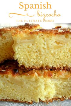 Bizcocho is a Spanish dessert with many  forms: it can be a biscuit, a cake or somewhere in the middle. The bizcocho we're talking about today is a delicious sponge cake! http://madridfoodtour.com/common-spanish-desserts-in-madrid/