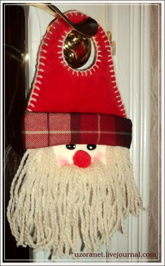Doorhanger Santa - step by step tutorial - Bildanleitung