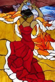 Flamenco dancer Stained Glass-stainedglasstownsquare.com