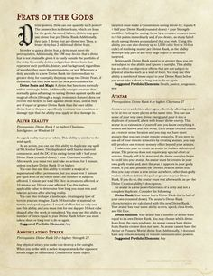 DnD Homebrew — Deities & Divinity by impersonater Dungeons And Dragons Classes, Dungeons And Dragons Homebrew, Dnd Feats, Dragon Rpg, Dragon Games, Dnd Dragons, Dnd Races, Dnd Classes, Dungeon Master's Guide