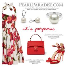 """""""It's  gorgeous!"""" by pearlparadise ❤ liked on Polyvore featuring Dolce&Gabbana and Salvatore Ferragamo"""
