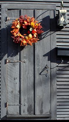 Sunshine and Shadows on an Antique Door in October